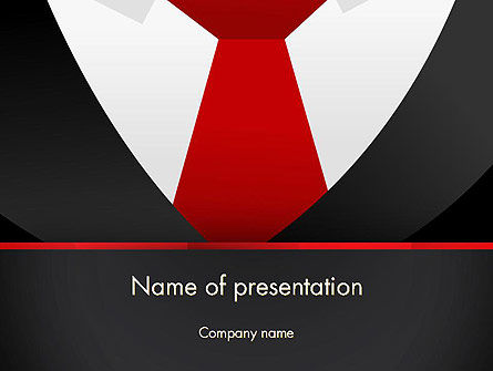 Formal Suit PowerPoint Template, 13774, Business — PoweredTemplate.com