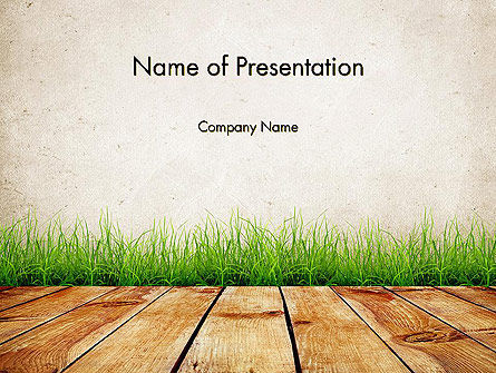 Wooden Floor Terrace PowerPoint Template, 13775, Careers/Industry — PoweredTemplate.com