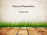 Careers/Industry: Wooden Floor Terrace PowerPoint Template #13775