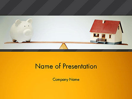 Mortgage vs Save for Retirement PowerPoint Template