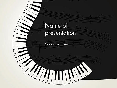 Art & Entertainment: Guitar and Piano Art PowerPoint Template #13778
