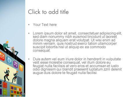 Mobile Advertising PowerPoint Template, Slide 3, 13779, Careers/Industry — PoweredTemplate.com