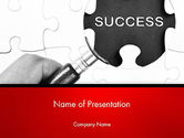 Education & Training: Magnifying Glass Searching Missing Puzzle Piece PowerPoint Template #13780