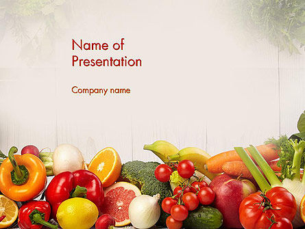 fruits and vegetables powerpoint template, backgrounds | 13782, Modern powerpoint