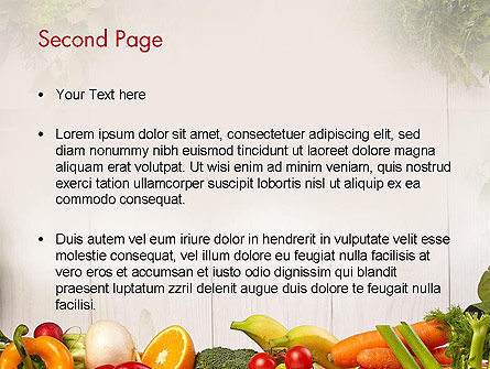 Fruits and Vegetables PowerPoint Template, Slide 2, 13782, Agriculture — PoweredTemplate.com