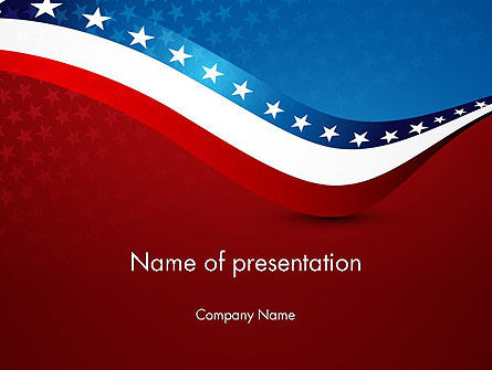 USA Patriotic Themed PowerPoint Template, 13784, America — PoweredTemplate.com