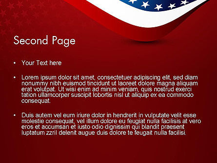 USA Patriotic Themed PowerPoint Template, Slide 2, 13784, America — PoweredTemplate.com