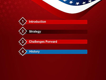 USA Patriotic Themed PowerPoint Template, Slide 3, 13784, America — PoweredTemplate.com