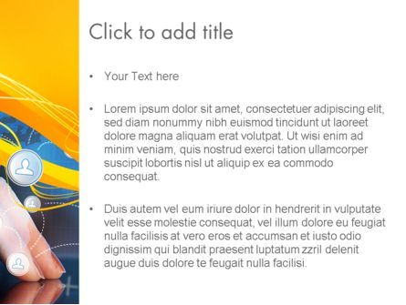 Touching iPad PowerPoint Template, Slide 3, 13785, Technology and Science — PoweredTemplate.com