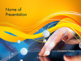 Technology and Science: Touching iPad PowerPoint Template #13785