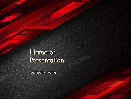 Tech Fast-Moving Abstract PowerPoint Template