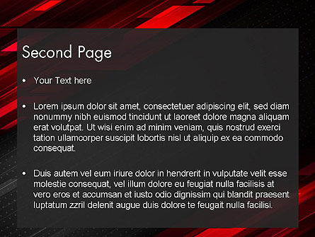 Tech Fast-Moving Abstract PowerPoint Template Slide 2