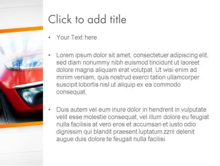 Speedy Car PowerPoint Template, Slide 3, 13787, Sports — PoweredTemplate.com