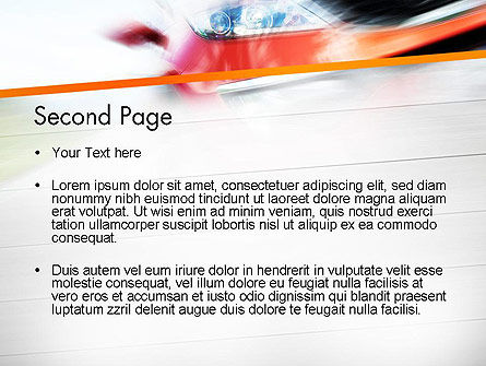 Speedy Car PowerPoint Template Slide 2
