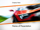 Sports: Speedy Car PowerPoint Template #13787