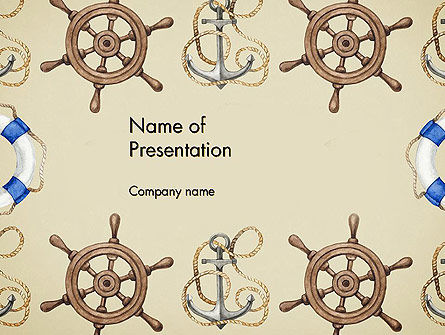 Careers/Industry: Seamless Nautical Pattern PowerPoint Template #13789