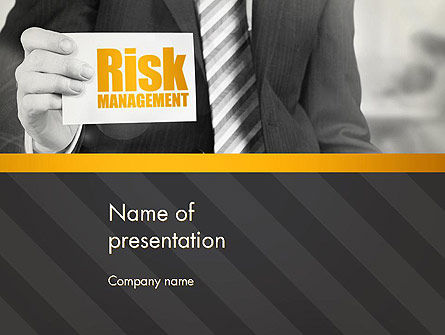 Risk Management Services PowerPoint Template, 13793, Consulting — PoweredTemplate.com