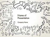 Abstract/Textures: Arrows Pointing in Different Directions PowerPoint Template #13797
