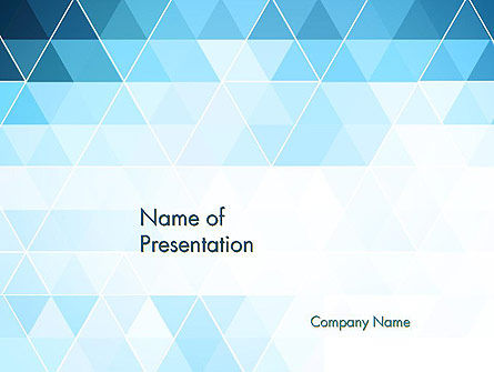 Blue Triangles PowerPoint Template, 13798, Abstract/Textures — PoweredTemplate.com