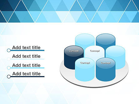 Blue Triangles PowerPoint Template Slide 12