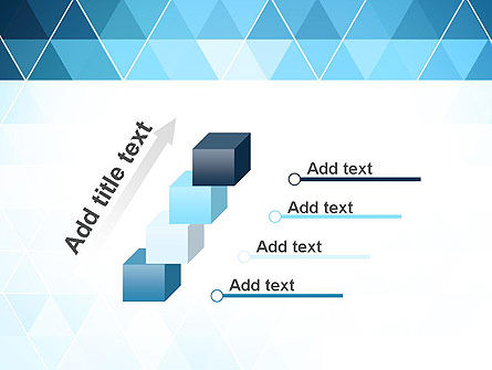 Blue Triangles PowerPoint Template Slide 14