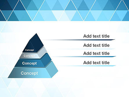 Blue Triangles PowerPoint Template, Slide 4, 13798, Abstract/Textures — PoweredTemplate.com