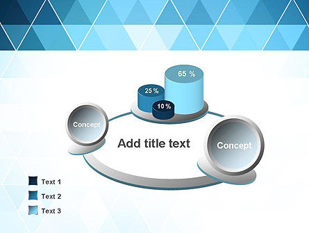 Blue Triangles PowerPoint Template Slide 6