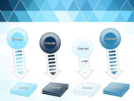 Blue Triangles PowerPoint Template Slide 8