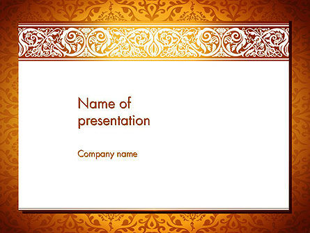 Arabesque PowerPoint Template, 13799, Abstract/Textures — PoweredTemplate.com