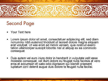Arabesque PowerPoint Template, Slide 2, 13799, Abstract/Textures — PoweredTemplate.com