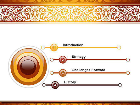 Arabesque PowerPoint Template, Slide 3, 13799, Abstract/Textures — PoweredTemplate.com