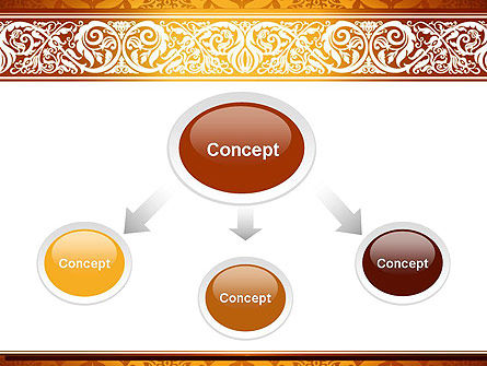 Arabesque PowerPoint Template, Slide 4, 13799, Abstract/Textures — PoweredTemplate.com