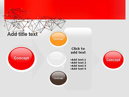 Polygonal Connections PowerPoint Template Slide 17