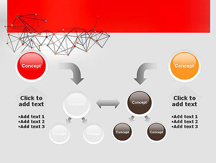 Polygonal Connections PowerPoint Template Slide 19