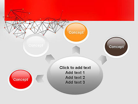 Polygonal Connections PowerPoint Template Slide 7