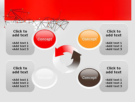 Polygonal Connections PowerPoint Template Slide 9
