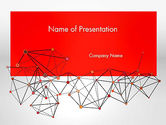 Business: Polygonal Connections PowerPoint Template #13802