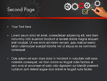 Solution With Gear Concept PowerPoint Template Slide 2