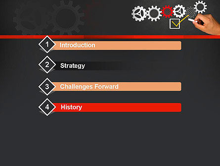 Solution With Gear Concept PowerPoint Template, Slide 3, 13803, Business Concepts — PoweredTemplate.com