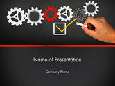 Business Concepts: Solution With Gear Concept PowerPoint Template #13803