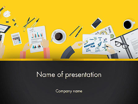Office Meeting Top View PowerPoint Template