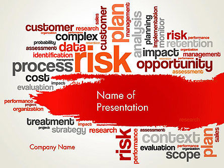 Risk Management Word Cloud PowerPoint Template, 13809, Consulting — PoweredTemplate.com