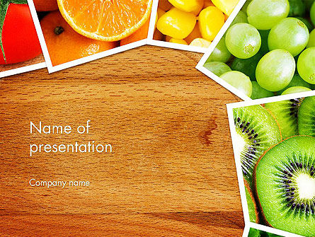 Fruits Collage PowerPoint Template, 13811, Food & Beverage — PoweredTemplate.com