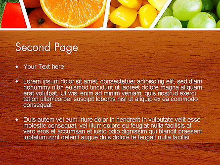 Fruits Collage PowerPoint Template Slide 2