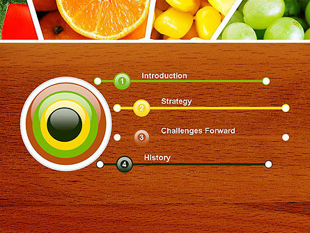 Fruits Collage PowerPoint Template, Slide 3, 13811, Food & Beverage — PoweredTemplate.com