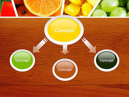 Fruits Collage PowerPoint Template, Slide 4, 13811, Food & Beverage — PoweredTemplate.com