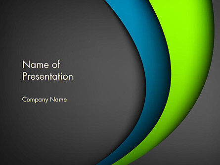 Flowing Waves Abstract PowerPoint Template, 13814, Abstract/Textures — PoweredTemplate.com