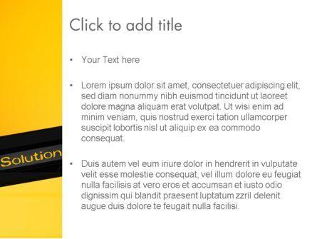 Solution PowerPoint Template, Slide 3, 13815, Business Concepts — PoweredTemplate.com