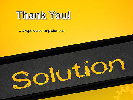 Solution PowerPoint Template Slide 20
