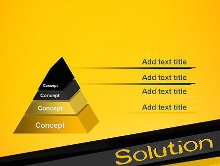 Solution PowerPoint Template, Slide 4, 13815, Business Concepts — PoweredTemplate.com